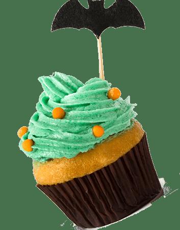 cupcake with bat
