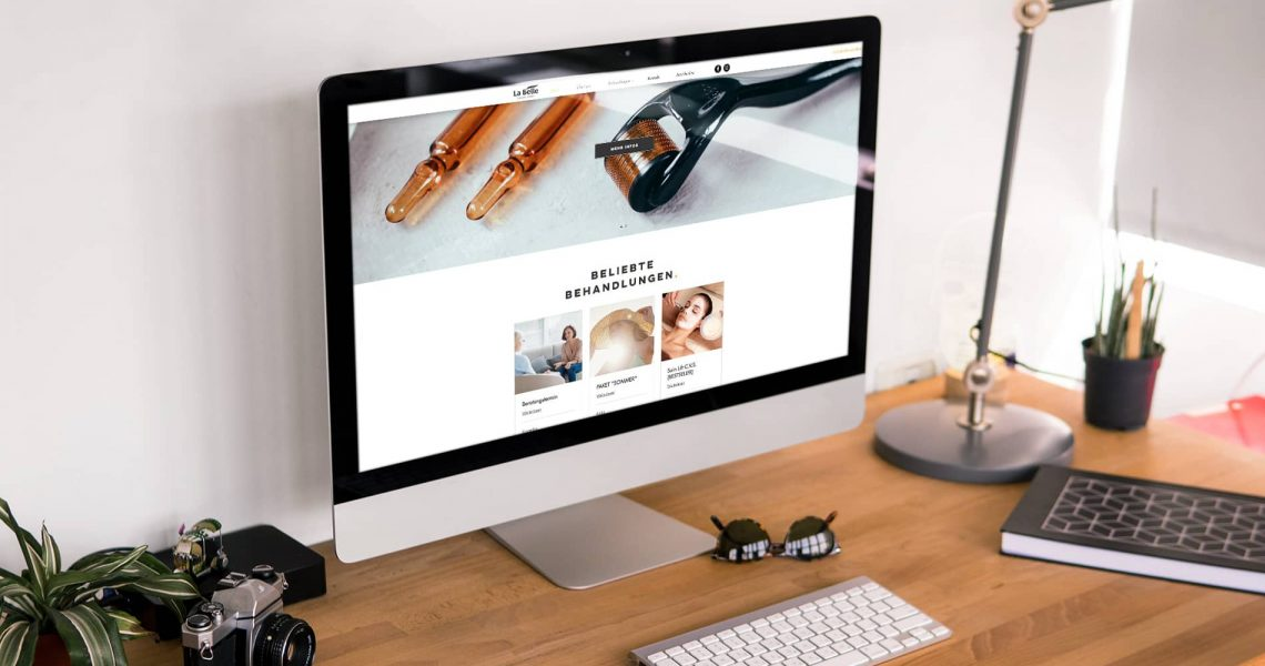 Webseite Labelle Mockup